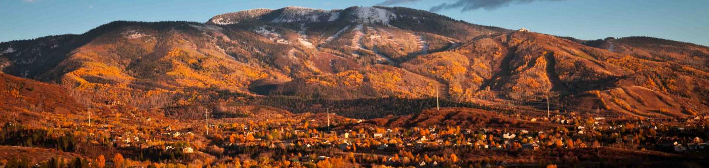 Steamboat Springs, CO town in autumn